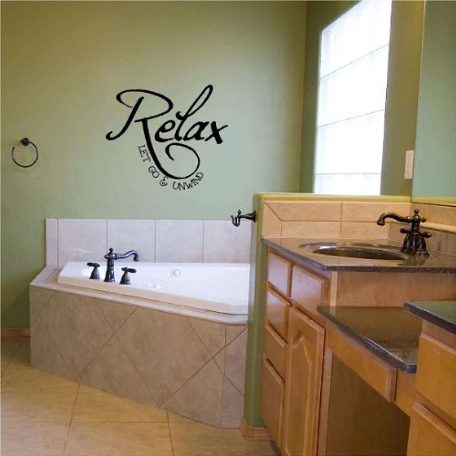 primera vez respuesta Relax Relax Relax Let Go And Unwind (A) vinyl wall decal by Wall Saying Vinyl Lettering  garantizado