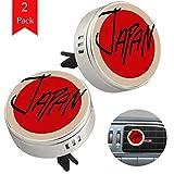 Lurnies Bandiera Giapponese Deodorante per diffusore di Olio Essenziale di aromaterapia per Auto in Argento con Cristalli e tamponi di Ricarica 33.8x46.5mm