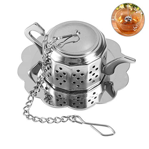 Tea Ball Infuser, Edelstahlgewebe Teesieb Diffusor Kräutergewürzfilter für loseblättrige Tee- und Mullinggewürze, Teekannenform