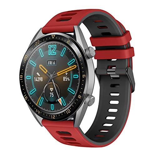 Correa para Galaxy watch 3 45mm/Huawei Watch GT 46mm, 22mm Silicona Banda Deportiva Pulsera para Huawei Watch GT Active/GT2 Pro/Honor Watch Magic/Galaxy Watch 46mm/Gear S3/Huawei Watch GT 2 46mm