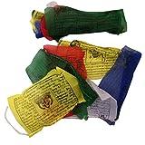 Gebetsfahnen, handgefertigt, Fair Trade, tibetisch-buddhistisch, Baumwolle, Wind-Pferde aus Nepal–25Flaggen – über 5m lang 'EINWEG'