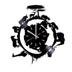 handmade african craft ~ silhouette clock