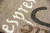 Teppich Modern Flachgewebe Gel Läufer Küchenteppich Küchenläufer Braun Beige Schwarz Creme mit Schriftzug Coffee Cappuccino Espresso Macchiato Größe 80 x 300 cm - 6