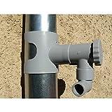 Capt'eau Récupérateur d'eau de Pluie pour conduits Circulaire (Gris) + 1 Mètre Tuyau Gris + Scie Cloche Premium BI Metal