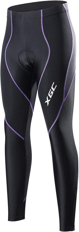 XGC Women's Long Cycling Pants Trousers Bike Pants Trousers Tights Legging with 4D Sponge Padded