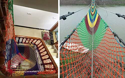 Red Cuerda Protectora Tejida Estructura Tradiciona Red de Seguridad para Niños con Red de Camuflaje 3 M X 7 M Escalera de Balcón Barandilla Valla Protección Red Niños Seguridad para Mascotas Escalera