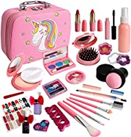 Kids Makeup Kit for Girl, Real Washable Makeup Set for Kids, Toddler Makeup Kit , Princess Dress Up Pretend Play...