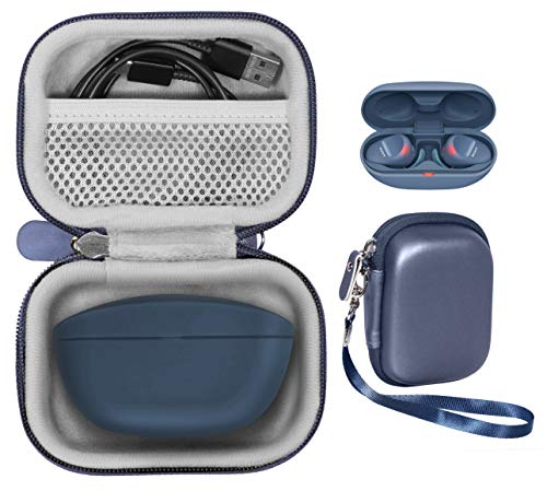 Featured Protective Case for Bose SoundSport Free Truely Wireless Sport Headphones Charger Box, Mesh Pocket for Cable and Other Accessories (Midnight Blue)