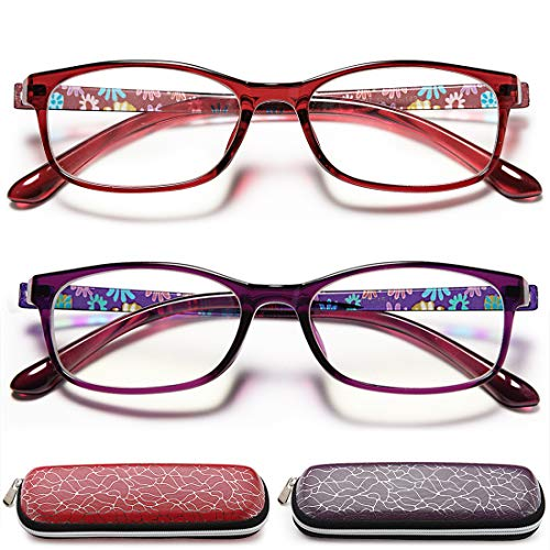 EYEURL Reading Glasses Womens Blue Light Blocking