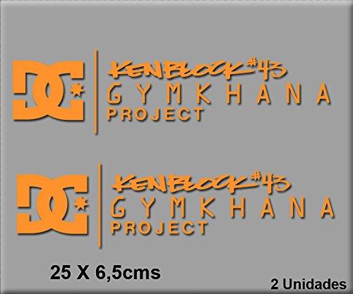 Ecoshirt DP-SR60-86VJ Aufkleber Projekt Gymkhana R78 Vinyl Aufkleber Decal Sticker Decal Aufkleber Car Auto Sport Racing Orange