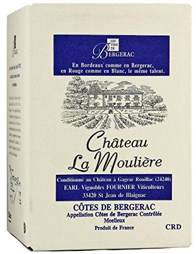 Château La Moulière A.O.C. Bergerac Moelleux Bag-in-Box Weißwein (1 x 5l)