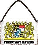 """Blechschilder Spruch: """"FREISTAAT Bayern"""" Deko"""