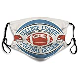 Unisex Graphics American Football Sports Sports Face Scarf