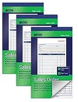Better Office Products販売オーダーブック 6パック 2パート カーボンレス (ホワイト/カナリアイエロー) 4-1/8 x 7-3/16インチ 1冊50セット 合計300冊 6冊