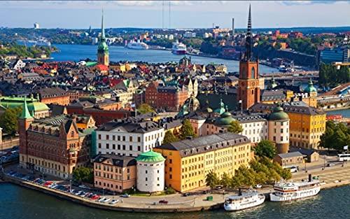Puzzles für Erwachsene 1000 Stück Puzzle für Erwachsene 1000 Stück Puzzle 1000 Teile Puzzle 1000 Teile Kinder große Puzzle-Spiel Dekompression Spielzeug-Schweden, Stockholm Puzzle 38x26cm
