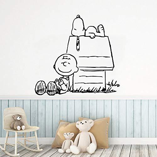 PSpXU Große Vinyl Hundehütte Tapete, Kinderzimmer Dekoration Möbel Roll Home Dekoration Kunst Wanddekoration Vinyl Aufkleber 91x96cm