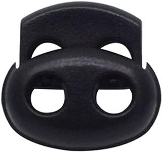 confezione da 25 B021-B colore nero in plastica Fermacorda a molla singola