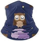 N/A Microfibra Cuello Calentador Nebulosa Luna Night Owl Cuello Gaiter Tube Ear Warmer Diadema Bufanda Mascarilla Pasamontañas Negro