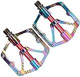 JZTOL Pedales De Bicicleta Plataforma De Bicicletas Pedales De Reemplazo Rodamiento De Rodamientos Sin Deslizamiento Aleación De Aluminio para BMX MTB Bike Bike Piezas De Ciclismo Accesorios