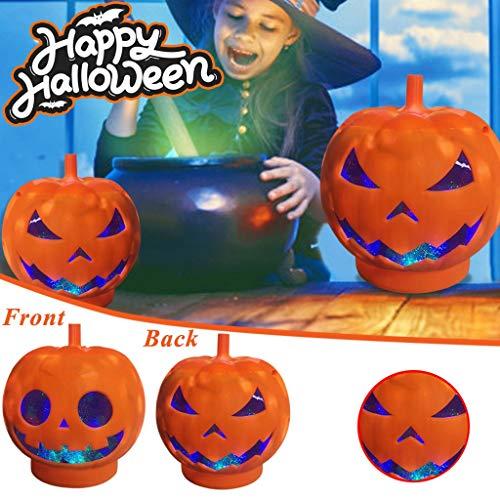 VECDUO Halloween Pumpkin Lamp for Home Party, Halloween Light LED Pumpkin Lamp for Party Decoration Pumpkin Lamp