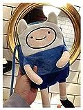 Momoko WJL INS Hot Finn & Jake Figure Crossbody Bolsa Swag Rap Peluche Bolsa de Monedas Bolsa de teléfono Anime Advanture Robert BMO Bolsa de Juguetes para niños para niños Lili