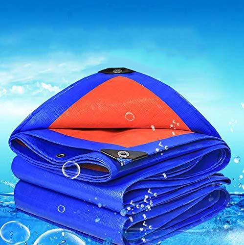 Longand - Lona con ojales (3 x 4 m, resistente al agua, polietileno, resistente al polvo, resistente al agua, tela de protección solar para camiones, tienda de campaña, 2 x 12 m)