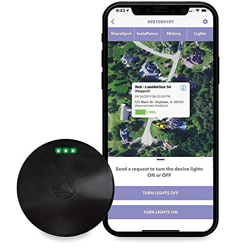 LandAirSea 54 Waterproof Covert Magnetic Real Time GPS Tracker for Personal Vehicle Asset and Fleet Location Tracking