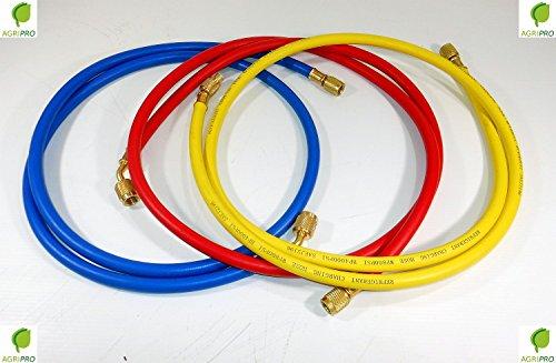 Agripro - Kit de 3 mangueras, tubos flexibles para gas refrigerante R 410A, para climatización