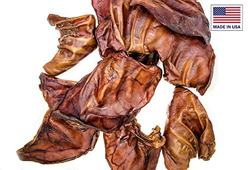 Unified Pet  All Natural Premium Thick Cut Pig Ears Treats for Dogs  Salmonella Tested  American Made  100 Count  Unwrapped