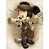 (23.6x35.4inch) Diamante pintura dibujos animados Mickey Mouse 5D DIY ronda/cuadrado diamante punto de cruz bordado mosaico decoración del hogar regalo hecho a mano