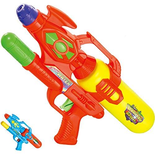 Plka Pistola de Agua Grande Juguete de Playa Pistola de Agua para niños Pistola de Agua para Adultos Regalo del día de los niños Songkran Pistola de Agua a presión ( Color : Red , Size : M )