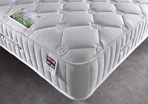 Bed Centre 4000 pacific pocket sprung with memory foam quilted 30cm deep mattress (Double (135 x 190 cm))