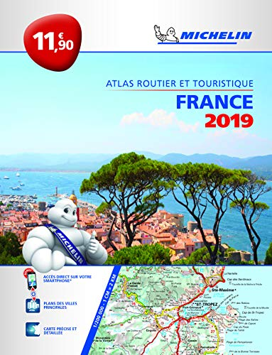 France 2019 - PB Tourist & Motoring Atlas: Tourist & Motoring Atlas A4 (Michelin Road Atlas)