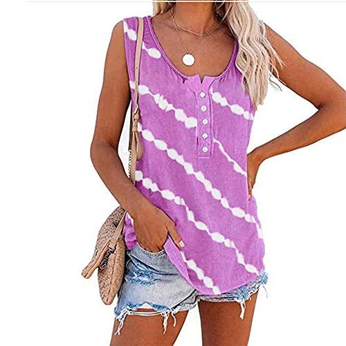 Camiseta sin Mangas Estampada para Mujer