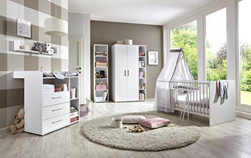 Babyzimmer Komplettset Kindermöbel Babymöbel komplett Set KIM 3 in Weiß