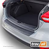 Travall Protector Compatible with Ford Focus 4 Door Hatchback (2014-2018) TBP1067P - Ridged Plastic Rear Bumper Protector