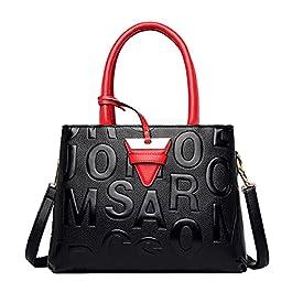 Tisdaini Sacs portés Main Femme Mode Grande capacité Processus de gaufrage de Lettre Sac a Main Cabas Sacs bandoulière…