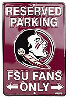 ZEWLLY Football Team Logo Street Sign Fans Reserved Parking Sign Metal Stop Sign Home Wall Decor 8 x 12