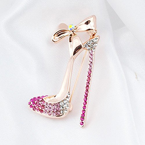 gespout elegante moda broche Lady broche accesorios Bowknot tac/ón brillantes joyas regalo de cumplea/ños apto para las mujeres