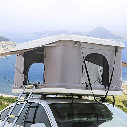 LMHX 2-3 personen voertuigtent daktent autodaktent voortent caravan, witte schaal + grijze tent