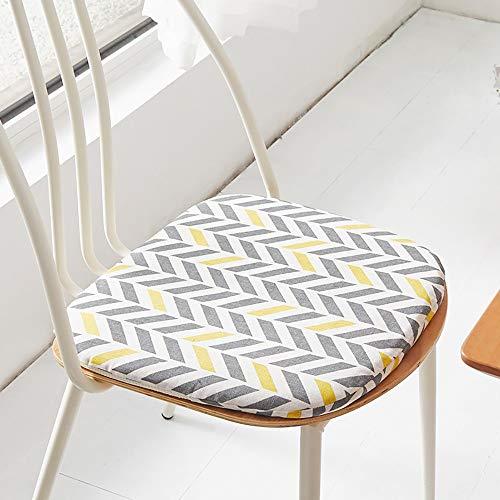 HWJ Set de 6 Cojines de Asiento cojín de Silla,comodísimos Cojines para sillas - Vivienda o terraza-Cojín De Algodón Y Lino- Muchos Colores