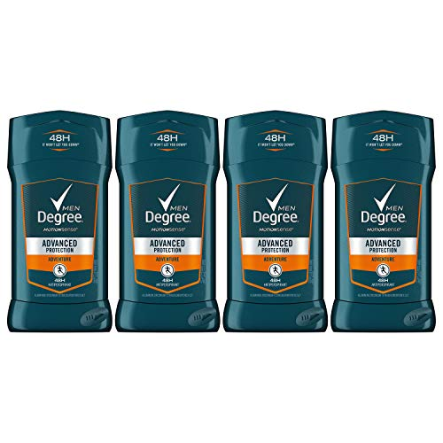 4x 76g Degree Men Invisible AntiPerspirant & Deodorant, Adventure (Herren Deo)