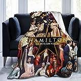 FREDDIE-ADAMS Musicals Hamilton Sofa Blanket, Lightweight Travel Blanket, Cozy Plush Keep Warm Throws Blankets for Baby/Kids/Youth/Adult Small (50'X40')