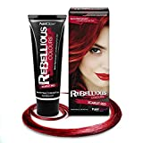 PaintGlow Teinture cheveux Semi Permanent, Rouge écarlate, 70 ml