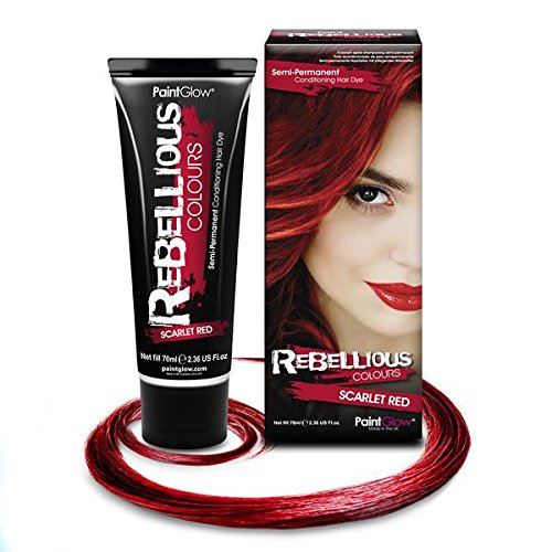 PaintGlow Tinta per Capelli Semi-Permanente Scarlet Red - 20 gr