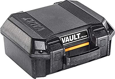 Vault by Pelican - V100 Pistol Case with Foam (Black)