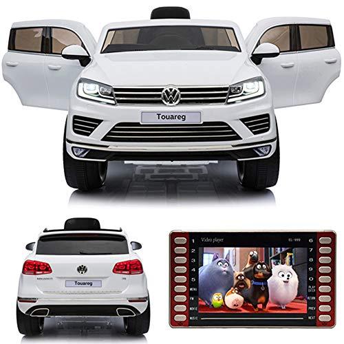crooza Touareg Touch-Display SoftStart Kinderauto Kinderfahrzeug Kinder Elektroauto Weiss