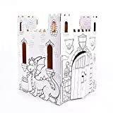 Easy Playhouse Fairy Tale Castle - Kids Art & Craft for Indoor & Outdoor Fun, Color, Draw, Doodle – Decorate & Personalize a Cardboard Fort, 32' X 32' X 43. 5' - Made in USA, Age 2+, White