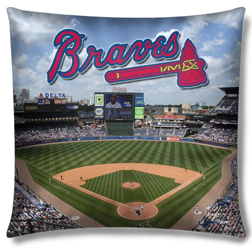 Atlanta Braves MLB Photo Real Toss Pillow (18x18 )