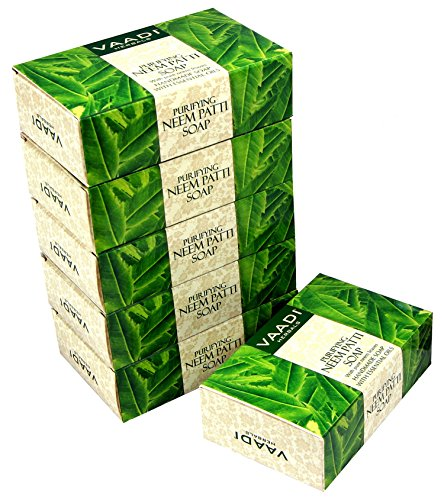 Vaadi Herbals Neem Soap Bar Soap Containing Pure Neem Leaves - Natural Soap Value Pack 6 X 75 Gm